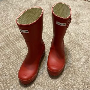 Women's Hunter Short Red Rainboots Size 5
